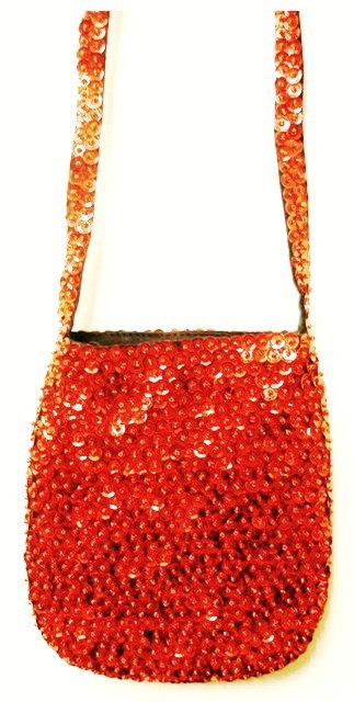 Sequin Beaded Purse RED # SP31 (SEQUINW-7FC3) photo