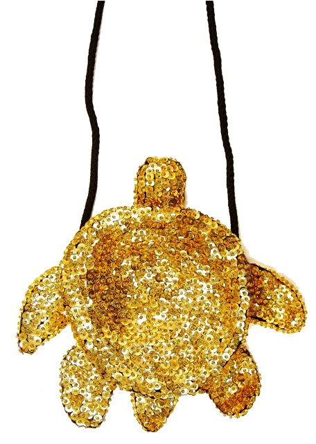 Sequin Beaded Purse TURTLE Shape GOLD (SEQUINW-31A8) photo