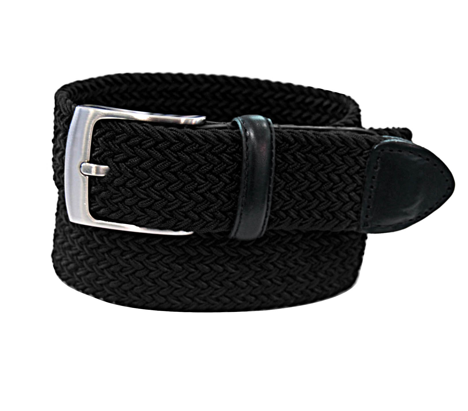 AFONiE Stretch Belt with Silver Finish Buckle - Black, Small 57aa3b3039f7e346450e90a6