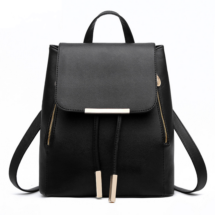 Casual Purse Fashion School Leather Backpack Shoulder Bag Mini Backpack (WARMHOU-F77B) photo
