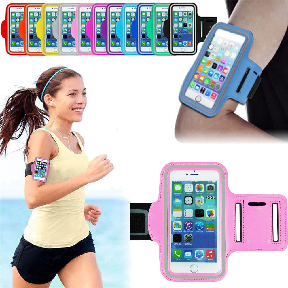 "Premium Sports Armband Gym Running Jogging Case Cover For IPhone 6 4.7"" – Black"