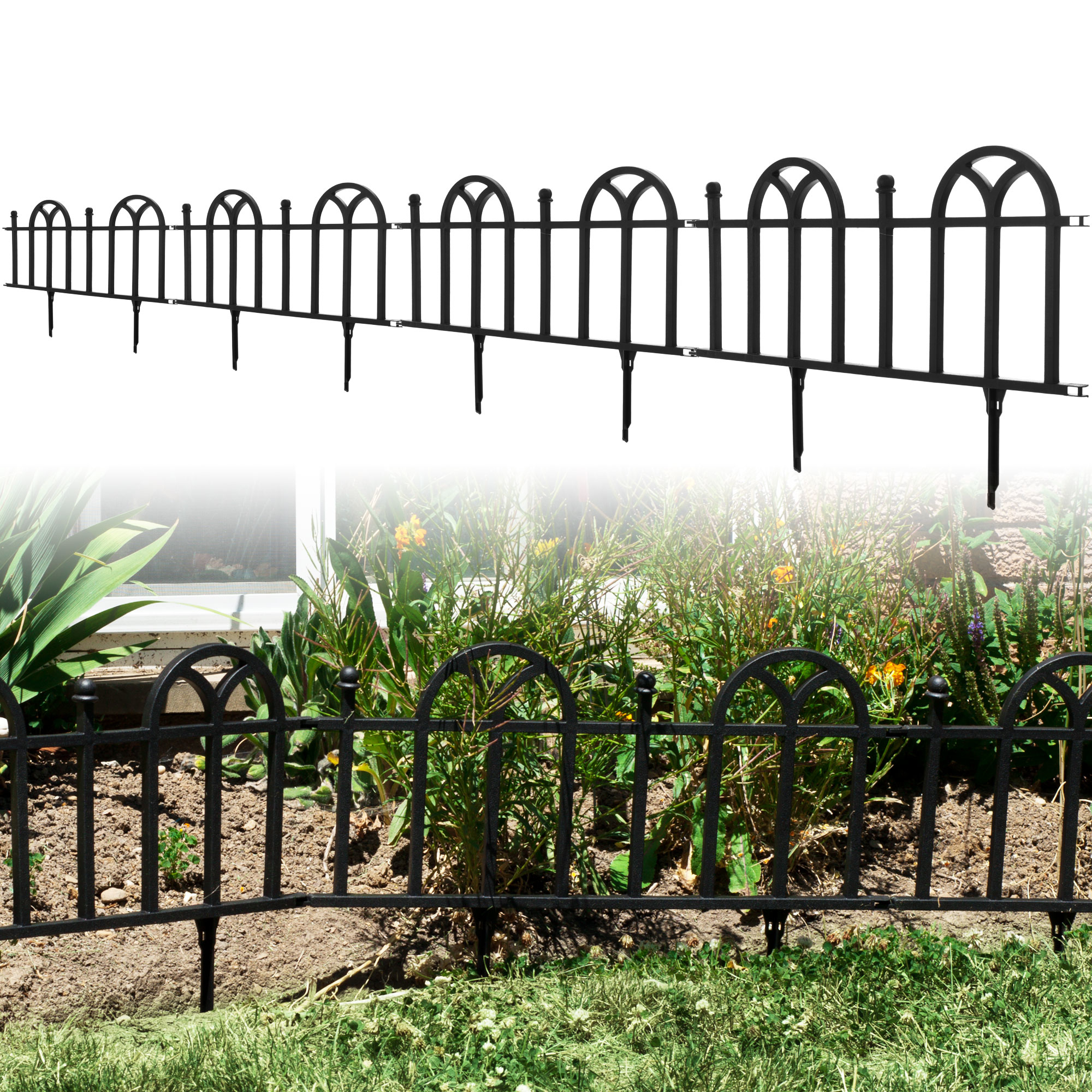 Victorian Garden Border Fencing Set by Pure Garden
