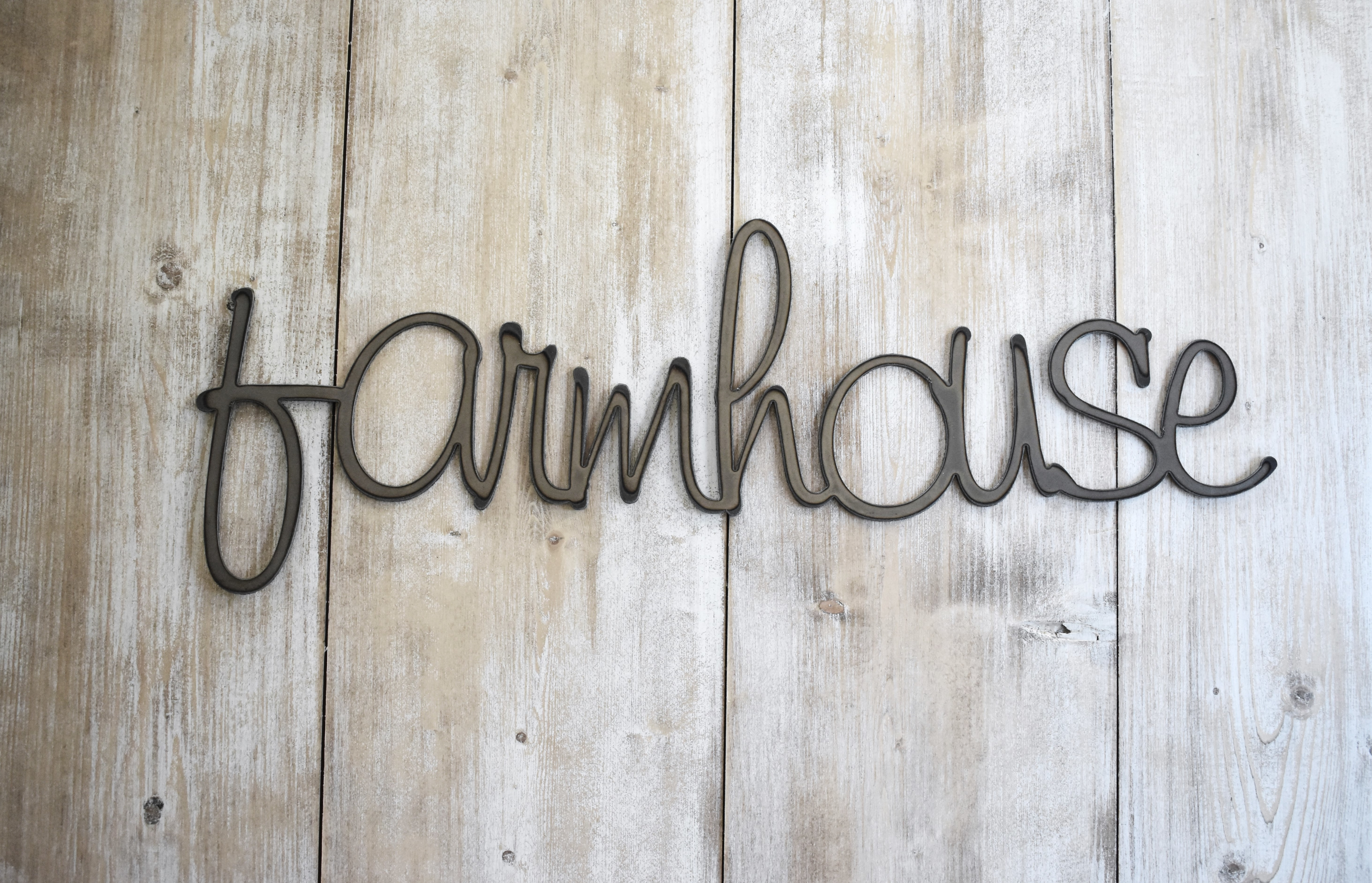 Farmhouse Word Art, Metal Sign, Wall Decor, Wall Hanging, Farmhouse Decor, Farmhouse Sign, Rustic Home Decor