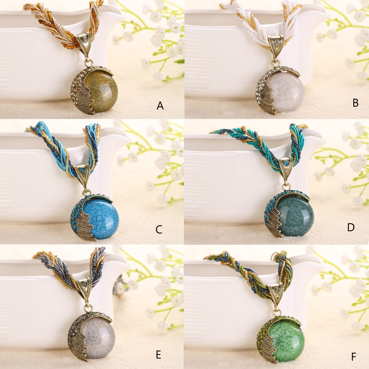 Love Rain Necklace Boho Vibe In 12 Shades - Color - A 57d876c42adf92576a3b5b79