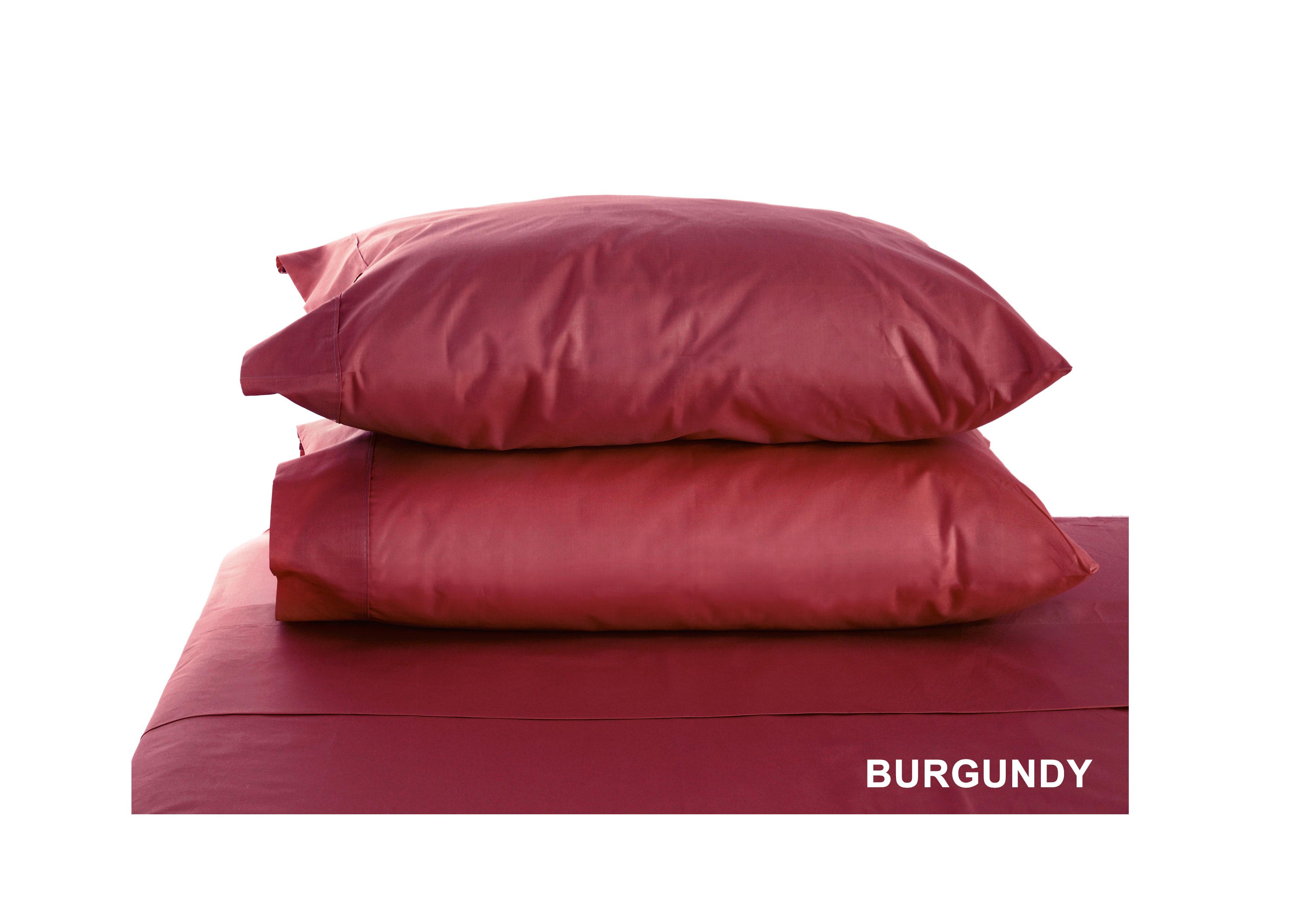 Swan Comfort Luxury Wrinkle & Fade Resistant Pillowcases ( Set of 2 ) - Burgundy, Standard 57dad88ee2246179947f8cff