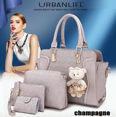 Women's PU Leather Shoulder bags Designer Messenger Bags Famous Brand Ladies Handbag Women's Clutch Handbags Purses Wallets - champagne (balabala shop) photo