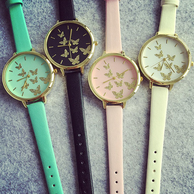 Happy Moments Butterfly Wrist Watches - Mint 57ddc984a020af737426db04