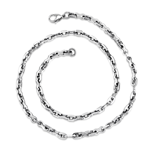 Classic Mens High Polished Stainless Steel Link Necklace Style Sn8474 5388a705b1f964d9430000be