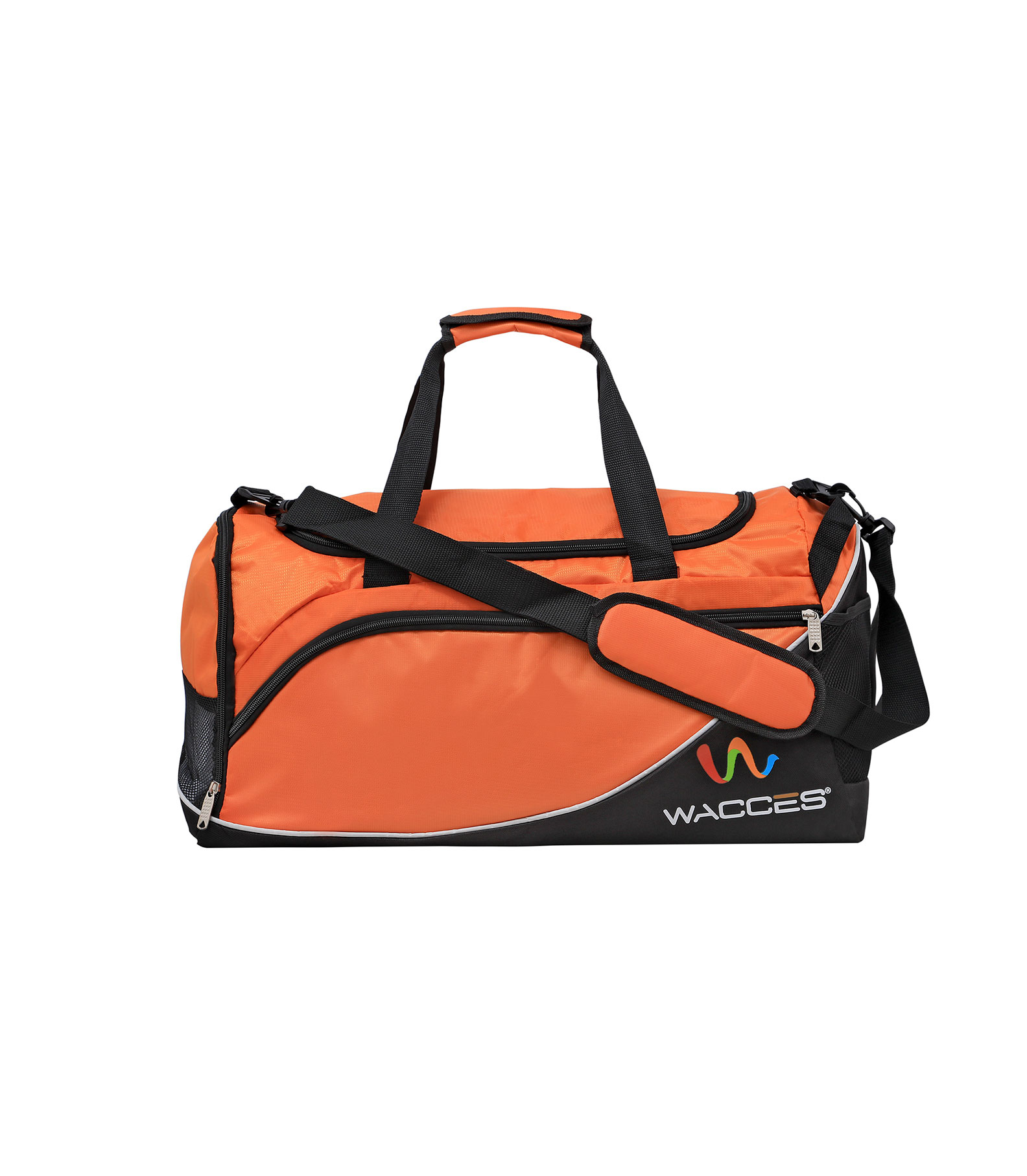 Wacces Lightweight Sport Gym Travel Duffle Bag with Shoe Punch - Medium
