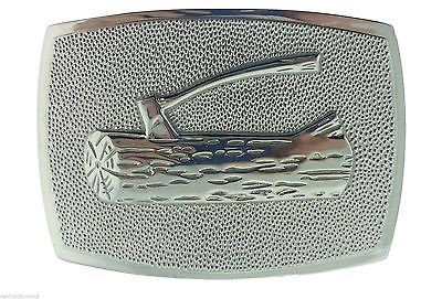 Boy Scouts BSA Solid Sterling Silver Wood Badge Belt Buckle Collectible 57e99309e2246104536949f9