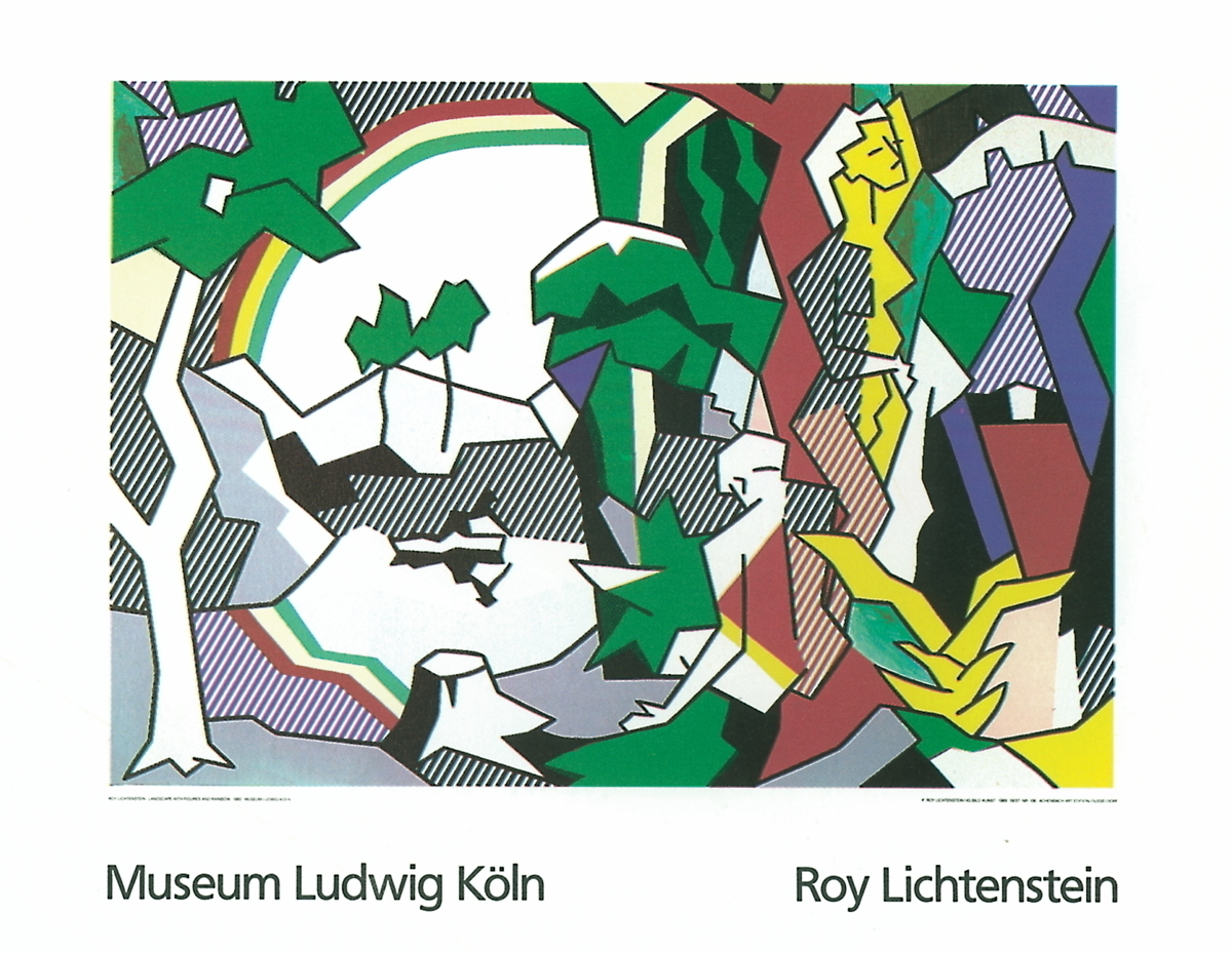 Roy Lichtenstein - Landscape With Figures and Rainbow Lg - 1989 580501e6e2246106d31dc4f2