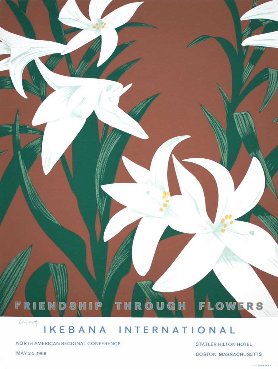 Alex Katz Friendship Through Flowers Ikebana International Signed Ale Photo