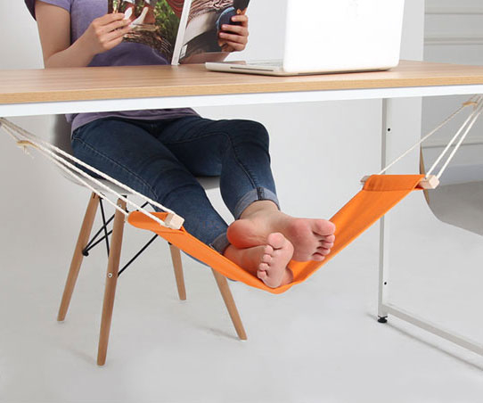 Foot Rest Desk Hammock - Blue 58068be85078a827097dda8f