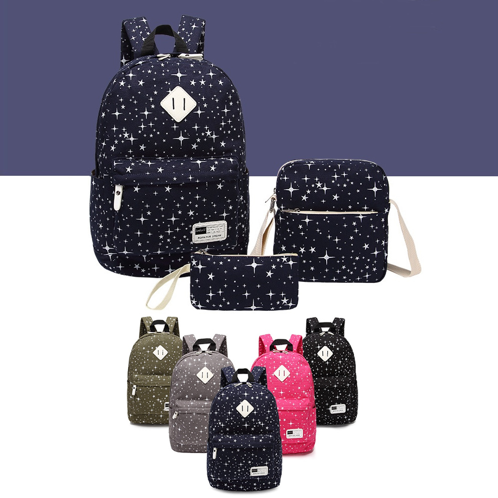 Galaxy Traveler Backpack Set of 3 Holiday Travels Made Easy By Journey Collection - Starry Blue 5824a4be78a3c95b34790434