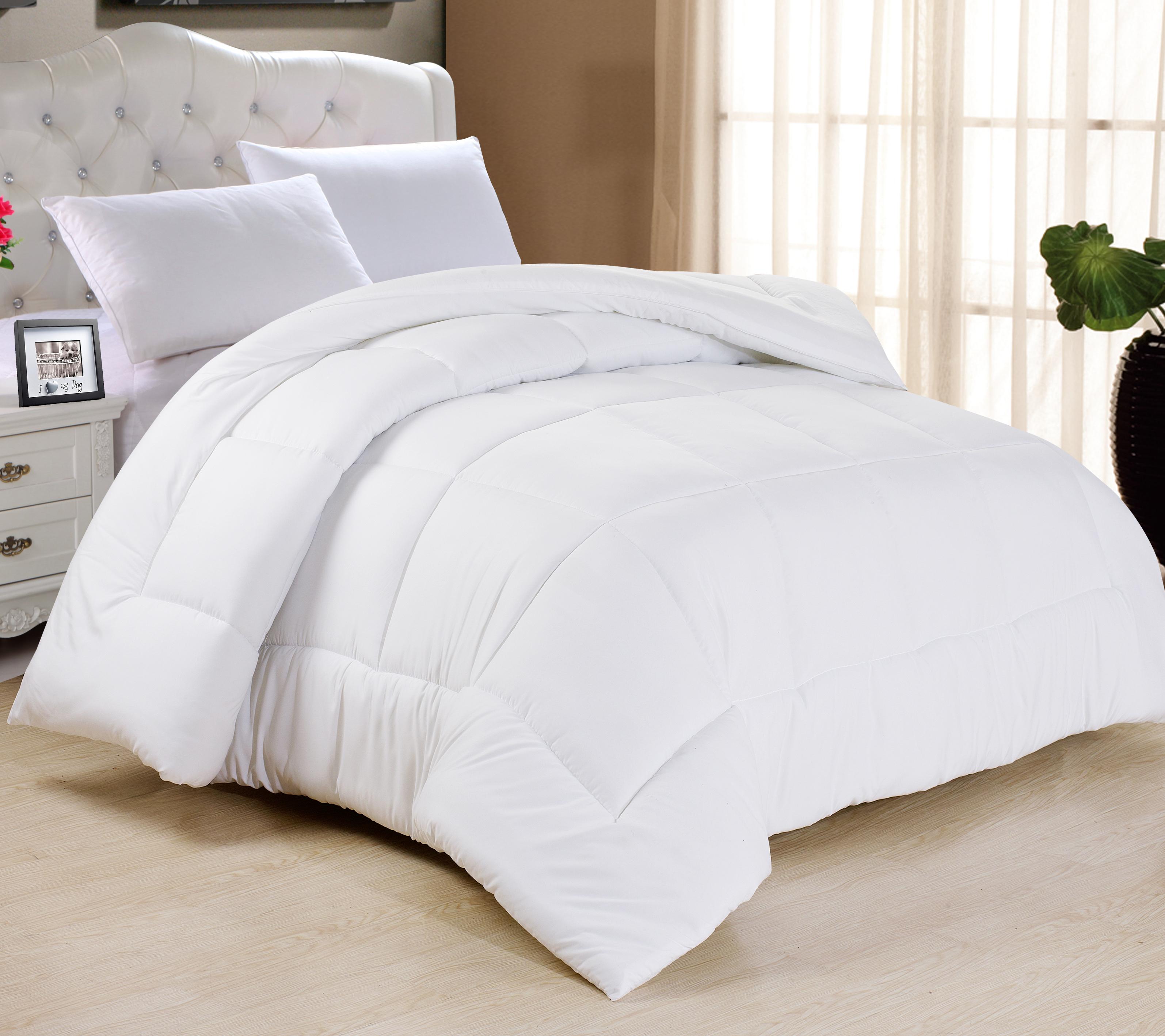 All-Season Down Alternative Comforter Duvet Insert in 5 Colors - Twin, White