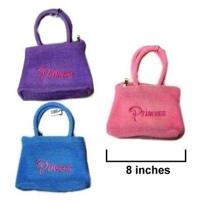 12 EMBROIDERED PRINCESS HAND BAG PURSE children girl new bulk lot kids (SKU_231669402456) photo