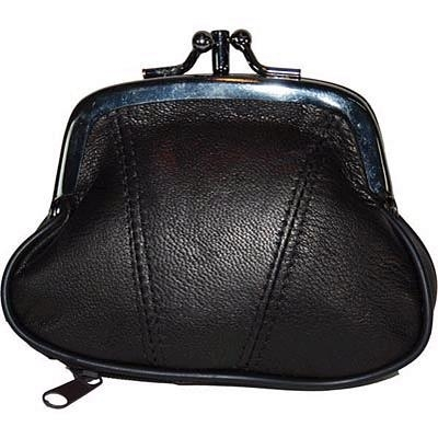 Genuine Leather Change Purse - Black (AFONiE) photo