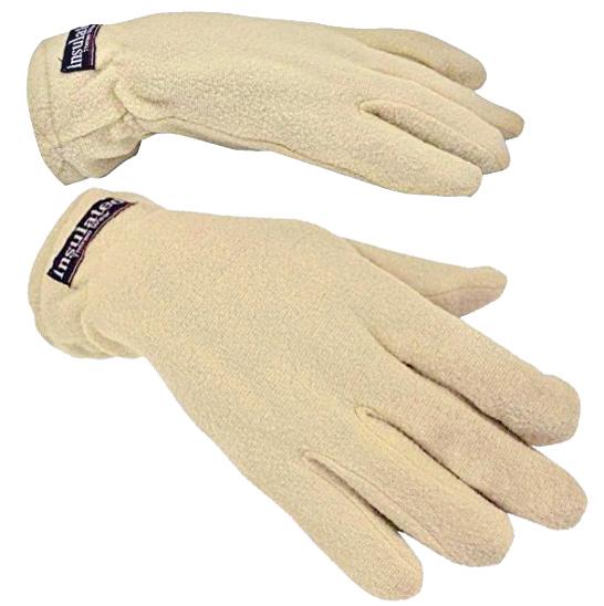 Women Fleece Thermal Gloves Outdoor Sports Winter - Dark Beige / Tan - One Size Fits All 5882910acaccdd22ec6d15d3