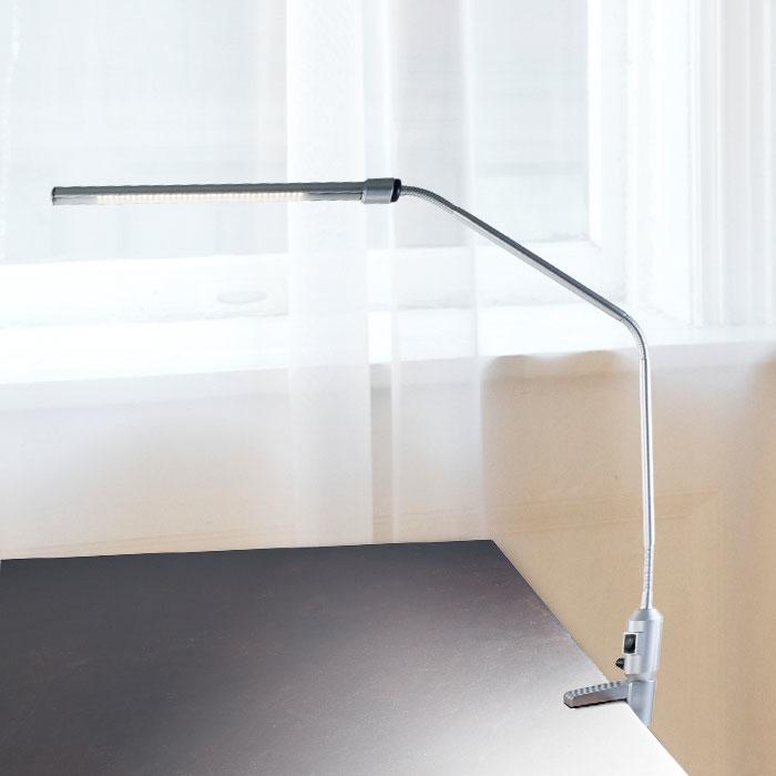 Lavish Home Modern Contemporary LED Clamp Desk Lamp Silver