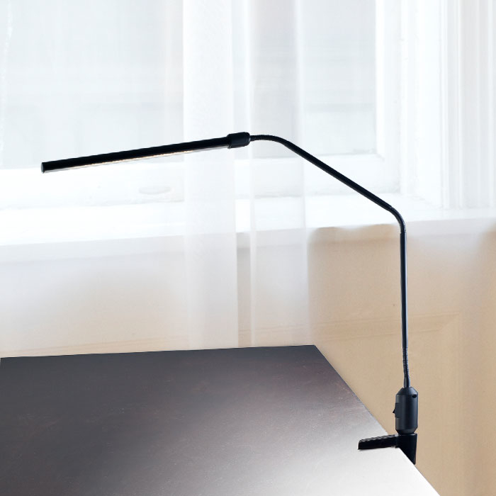 Lavish Home Modern Contemporary LED Clamp Desk Lamp Black
