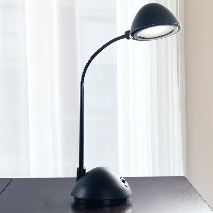 Lavish Home Bright Energy Saving LED Desk Lamp - Black