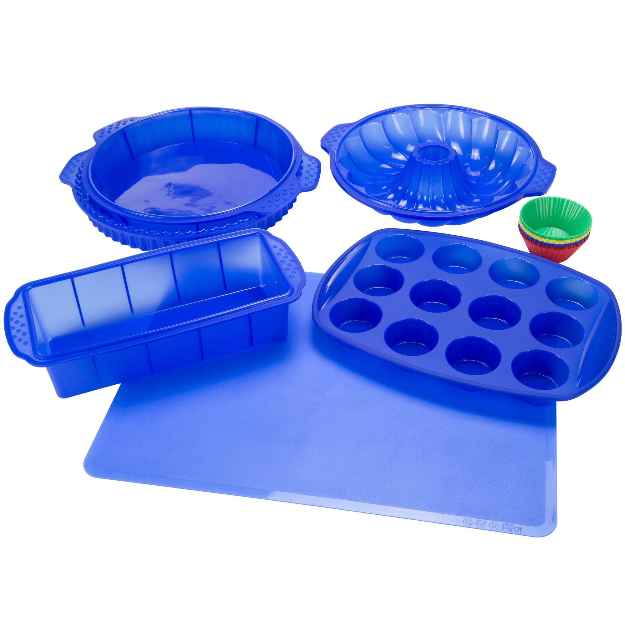 Classic Cuisine 18 Piece Silicone Bakeware Set - Blue