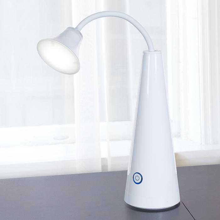 Lavish Home Contemporary LED Gooseneck Desk Lamp - White