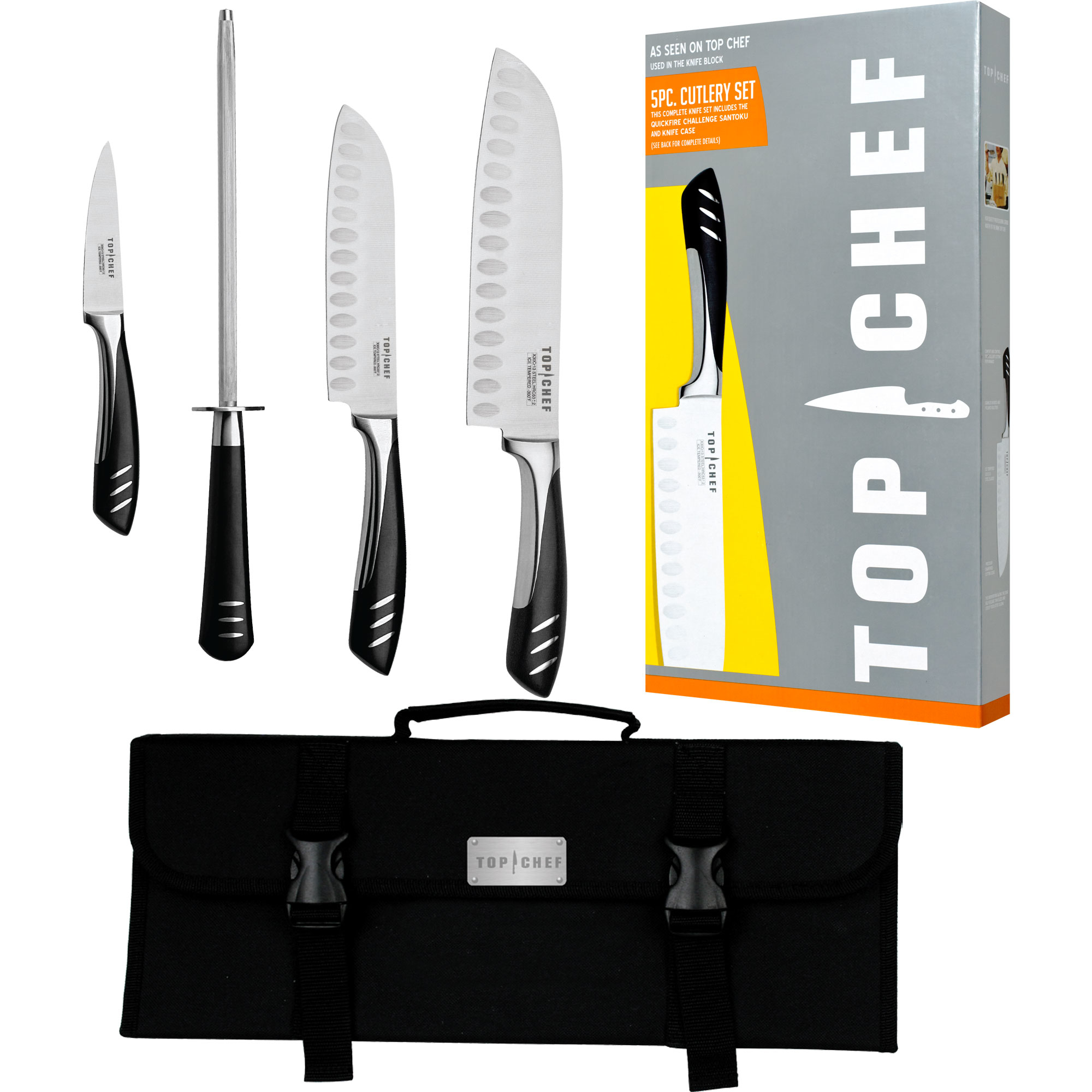 Top Chef® 5 Piece Stainless Steel Knife Set - Portable