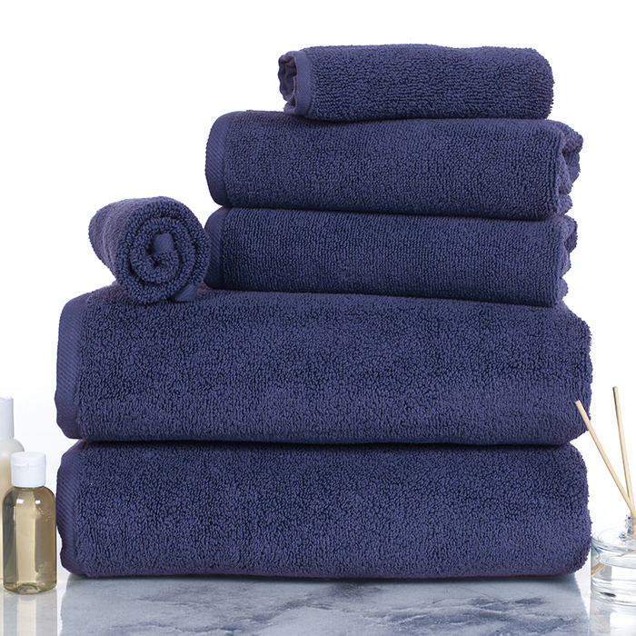 Lavish Home 100% Cotton Zero Twist 6 Piece Set - Navy 588a2d2dc98fc446c92818d0