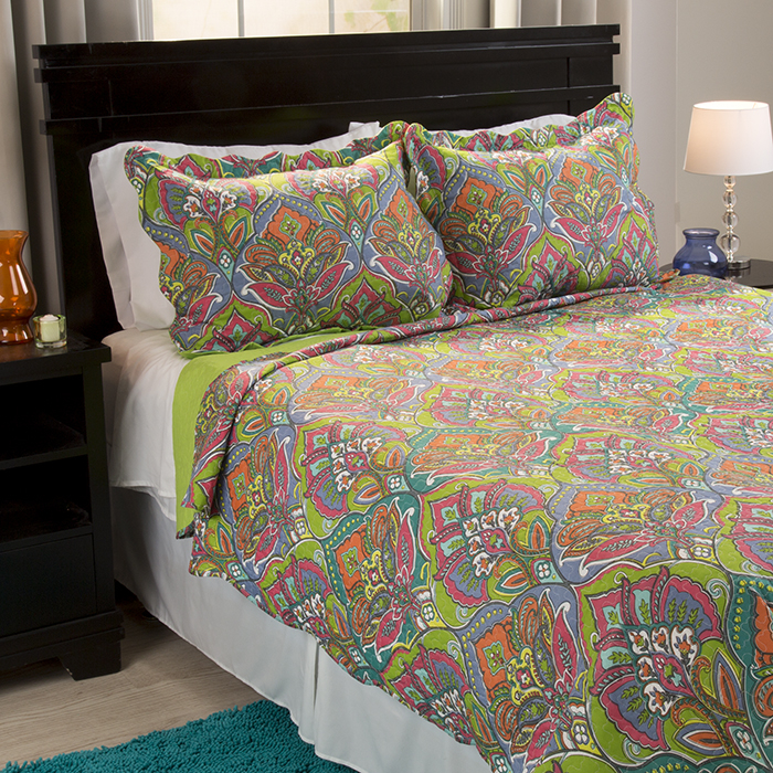 Lavish Home Gracie 3 Piece Quilt Set - Full/Queen 588a2d2fc98fc446c928194b