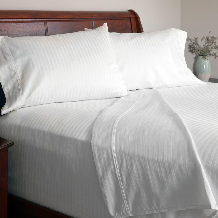 Lavish Home 300 Thread Count Cotton Sateen Sheet Set - King - White 588a2d34c98fc446cb6c2d52
