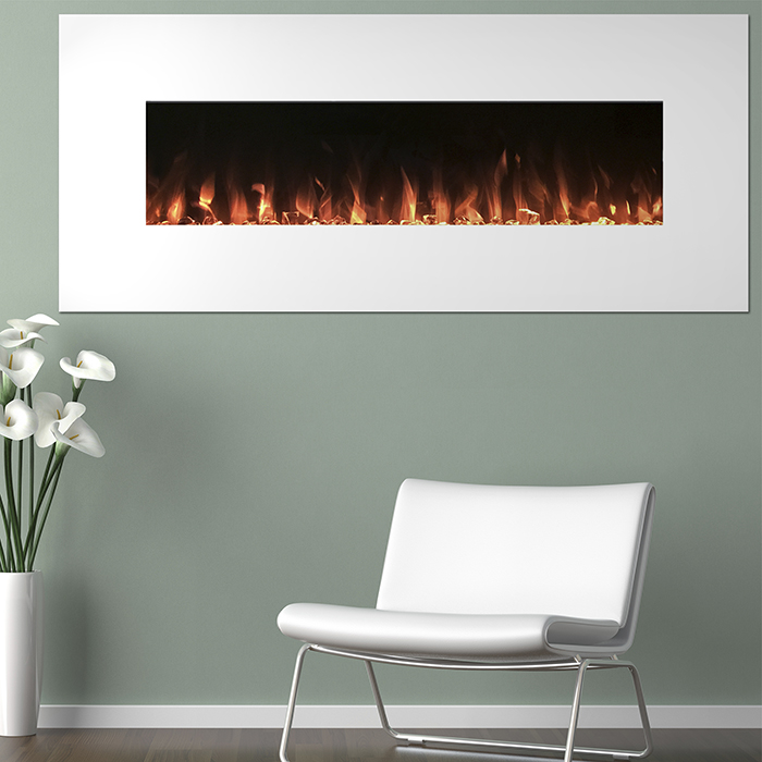 Electric Fireplace Color Changing Wall Mounted Remote