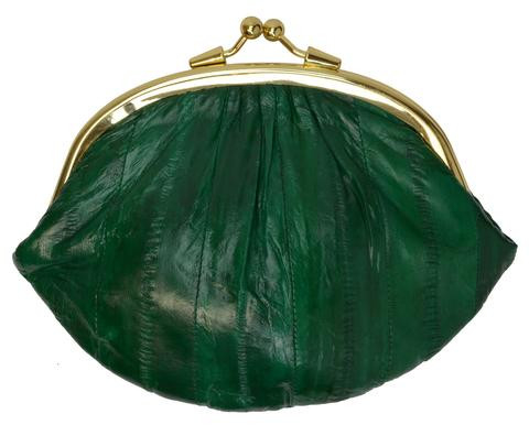 Eel skin coin/change purse with metal clasp Big Green (E10BIGGR) photo
