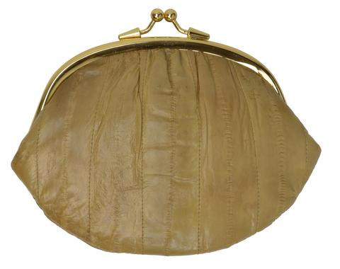 Eel skin coin/change purse with metal clasp Big Tan (E10BIGTN) photo