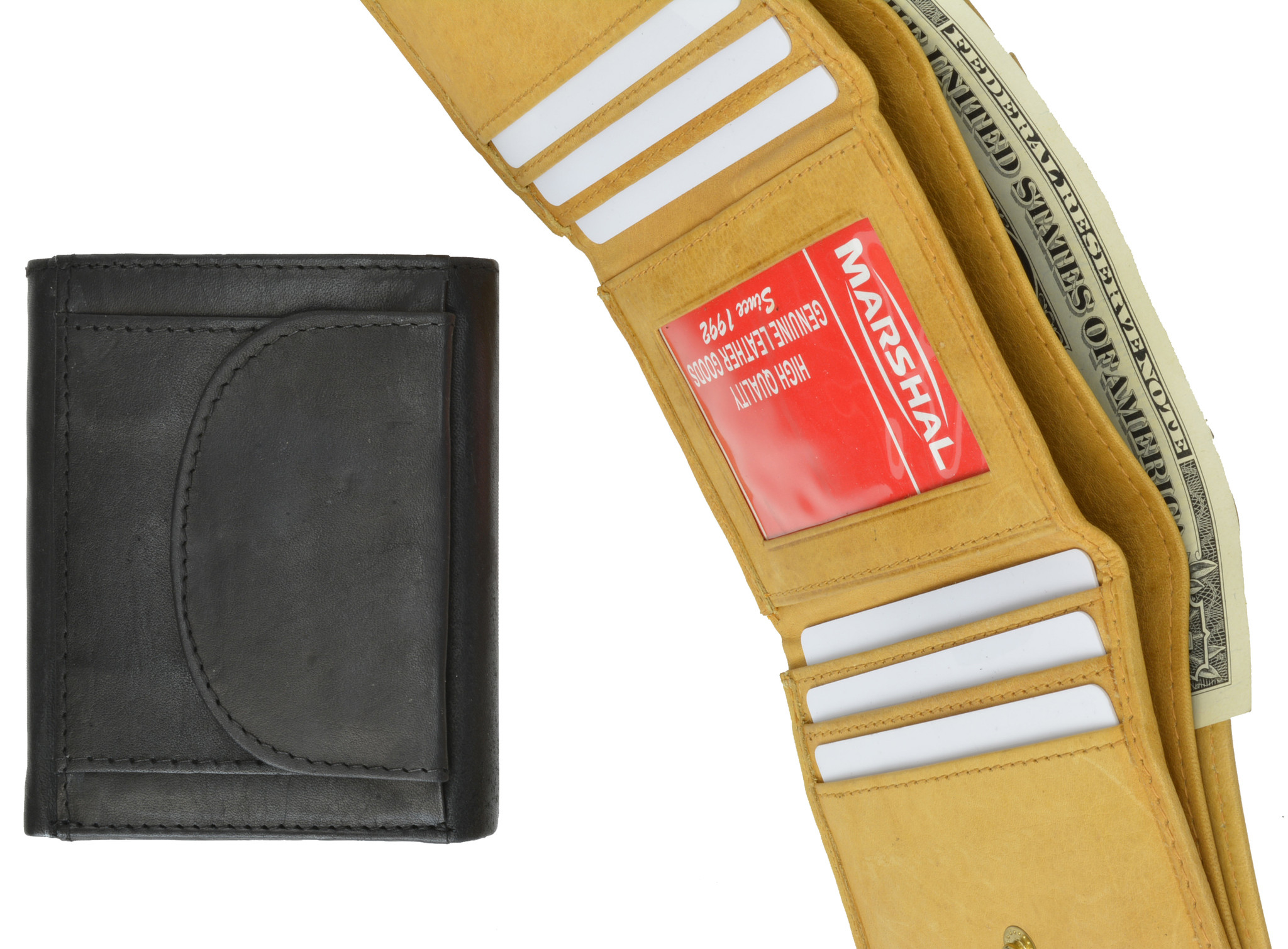 Men's Trifold Wallet With Change Purse (2055cf - 04) photo