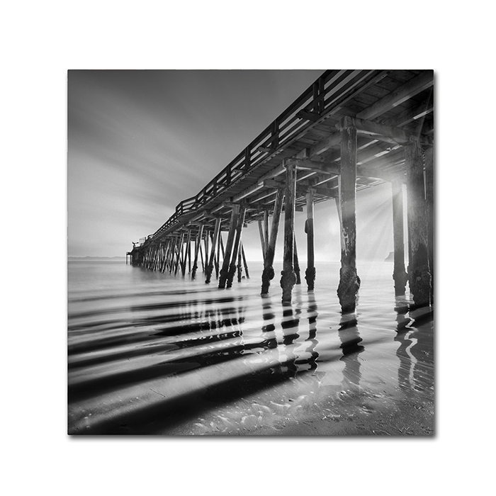 Moises Levy 'Pier and Shadows' Canvas Wall Art 14 x 14
