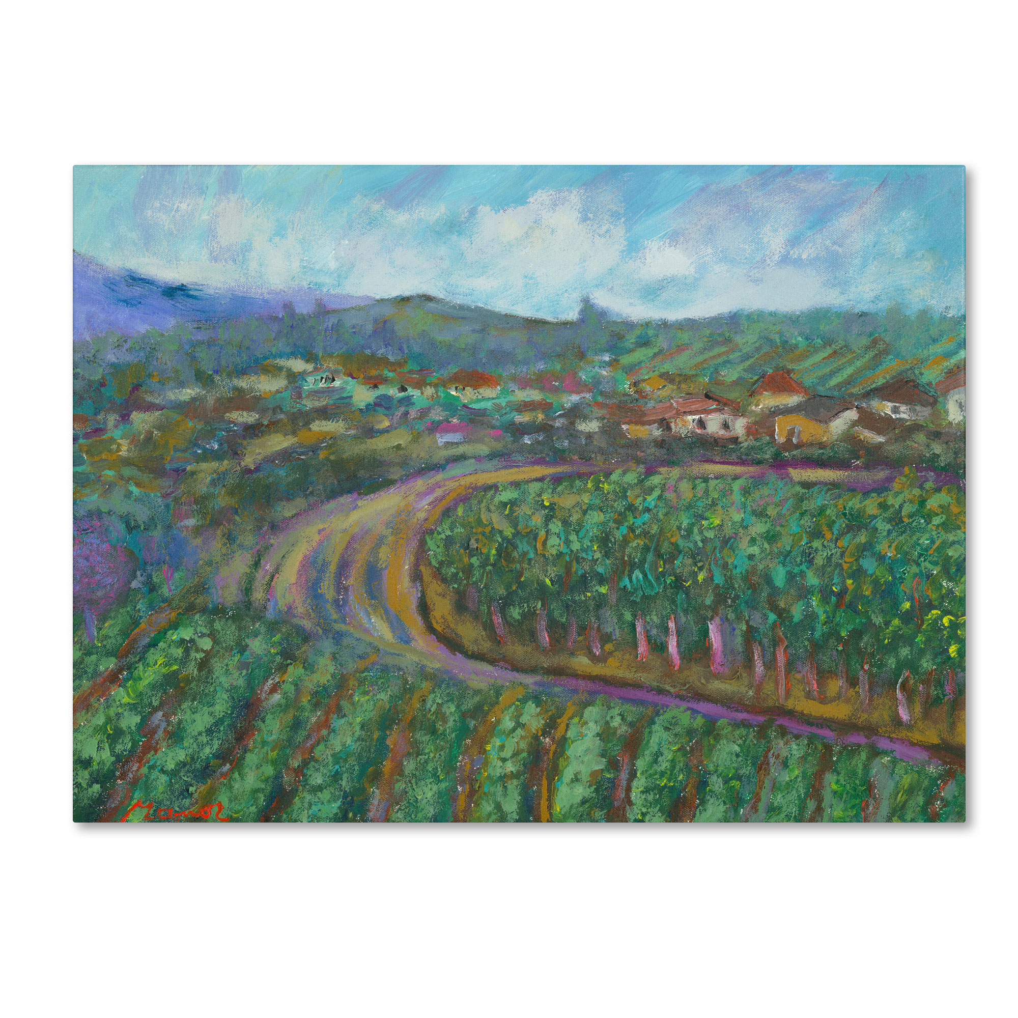 Manor Shadian 'Cherry Trees and Strawberry Fields' Canvas Wall Art 35 x 47 Inches