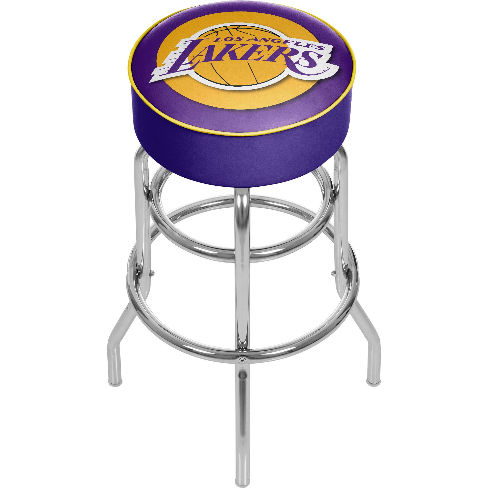 Los Angeles Lakers NBA Padded Swivel Bar Stool 30 Inches High