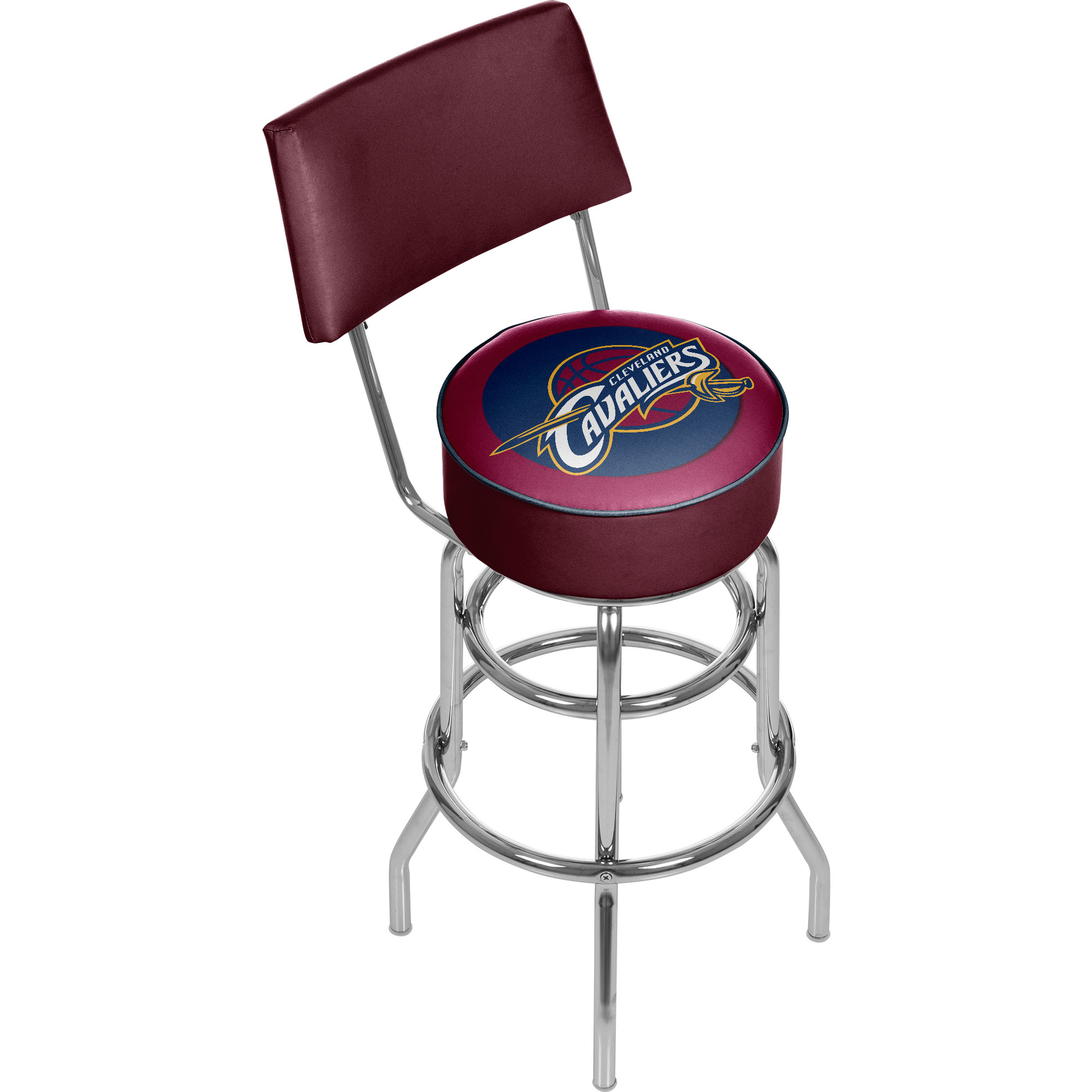 Cleveland Cavaliers NBA Padded Swivel Swivel Bar Stool with Back