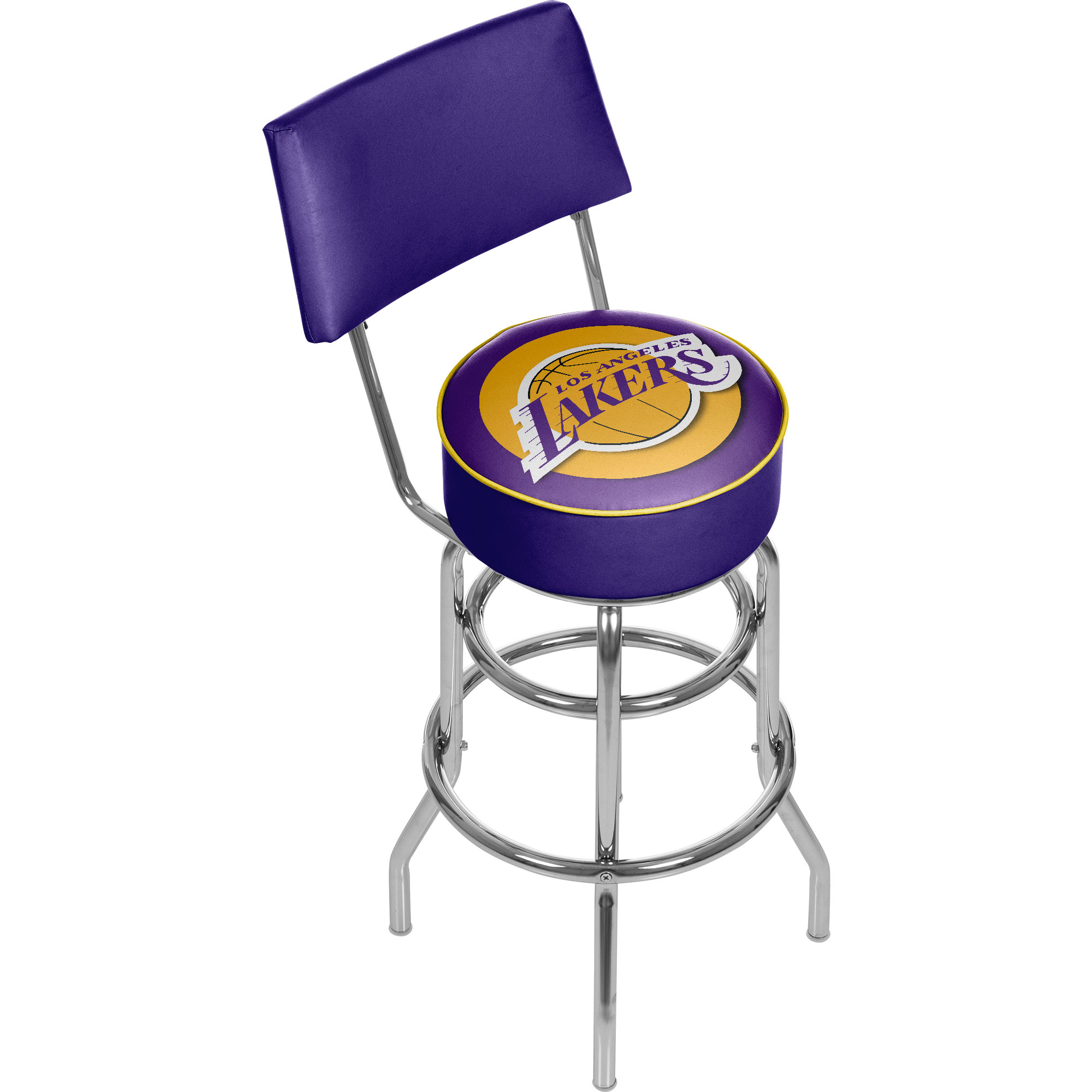 Los Angeles Lakers NBA Padded Swivel Swivel Bar Stool with Back