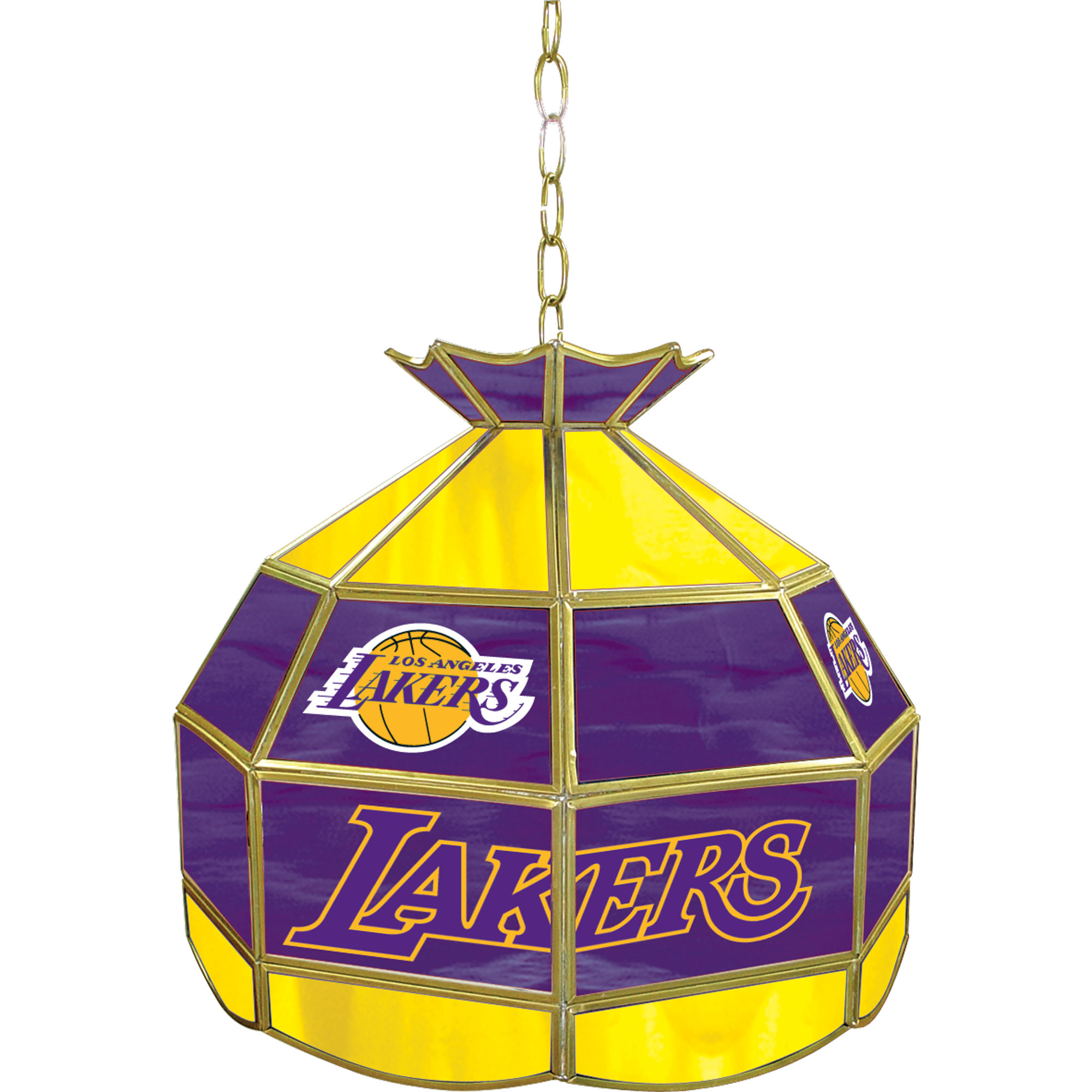 Los Angeles Lakers NBA 16 Inch Stained Glass Lamp