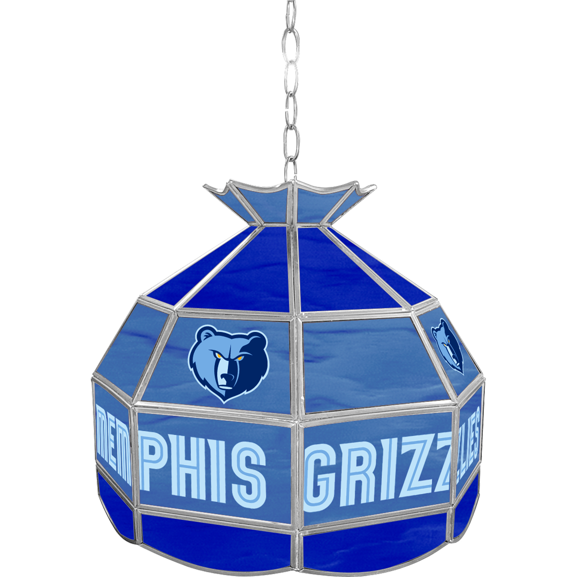 Memphis Grizzlies NBA 16 Inch Stained Glass Lamp
