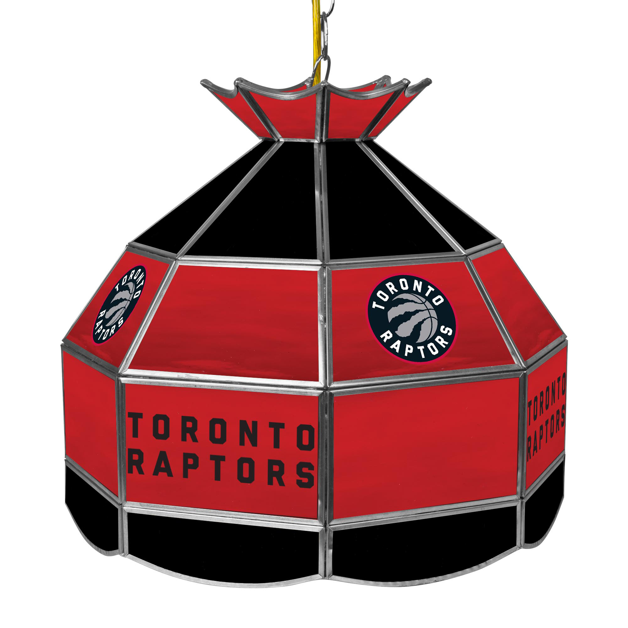 Toronto Raptors NBA 16 Inch Stained Glass Lamp