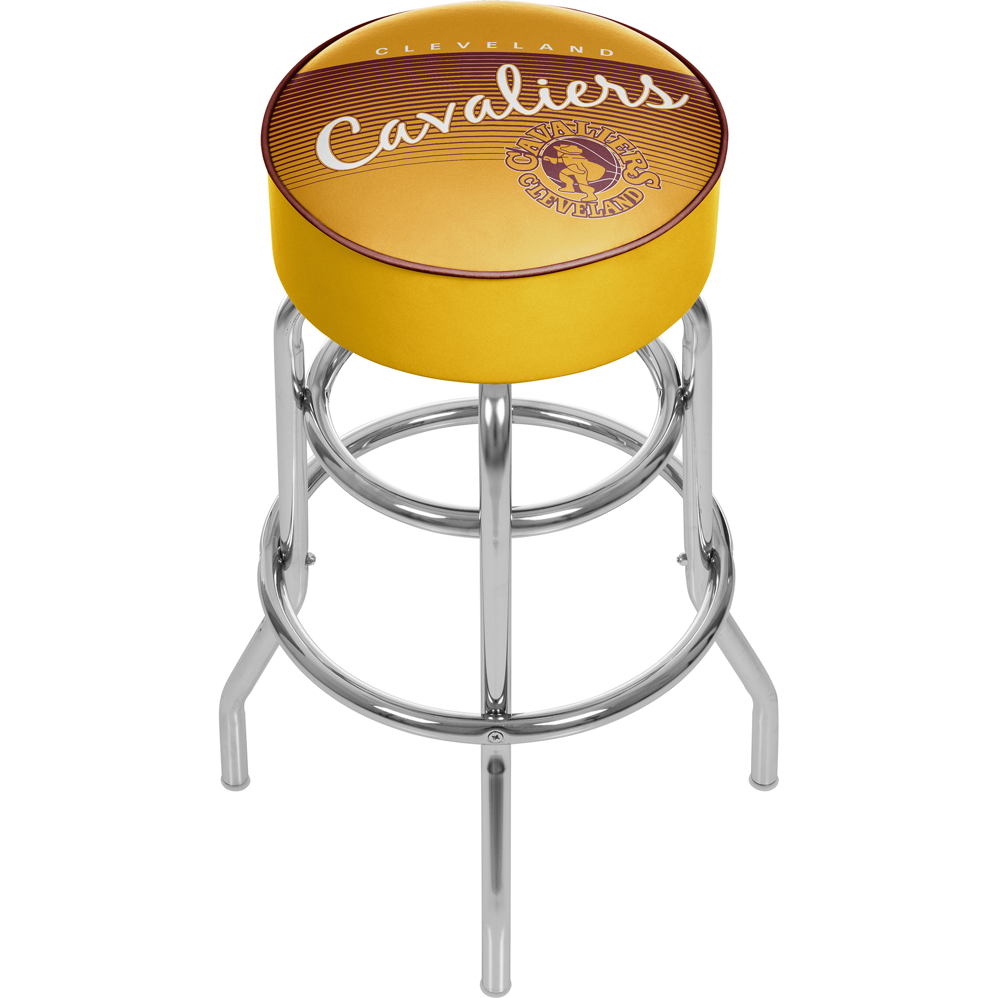 Cleveland Cavaliers NBA Hardwood Classics Padded Swivel Bar Stool 30 Inches High