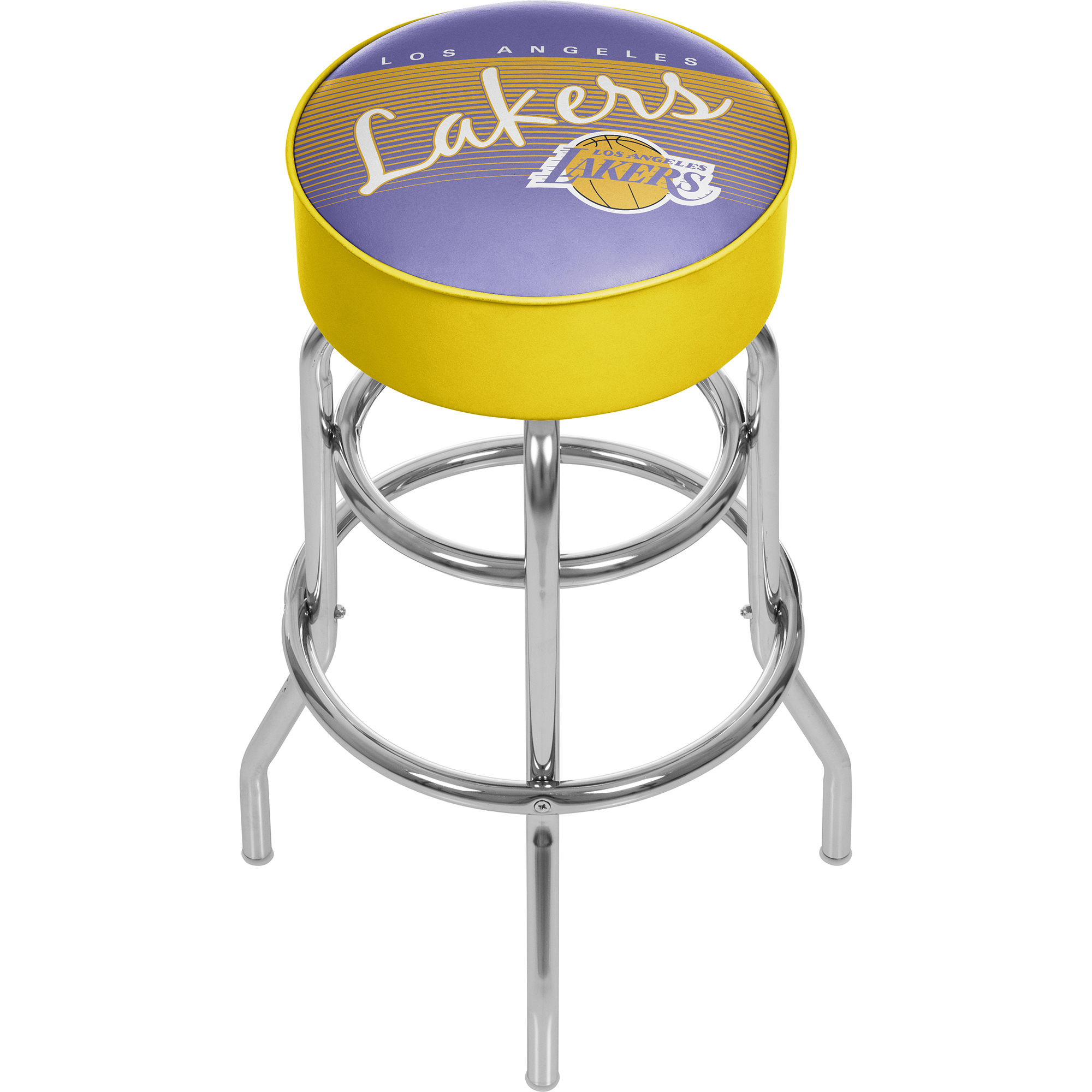 Los Angeles Lakers NBA Hardwood Classics Padded Swivel Bar Stool 30 Inches High