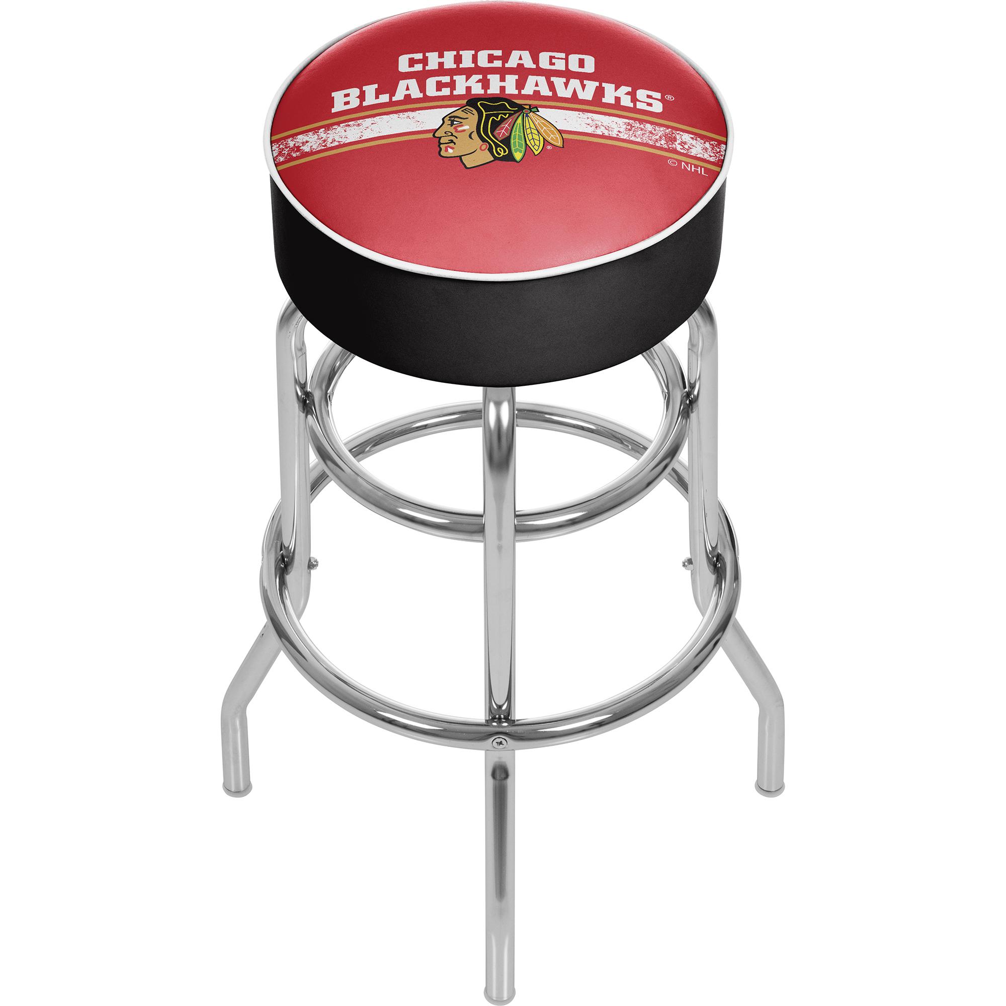 NHL Chrome Bar Stool with Swivel - Chicago Blackhawks 589b8bebc98fc43a0468a500