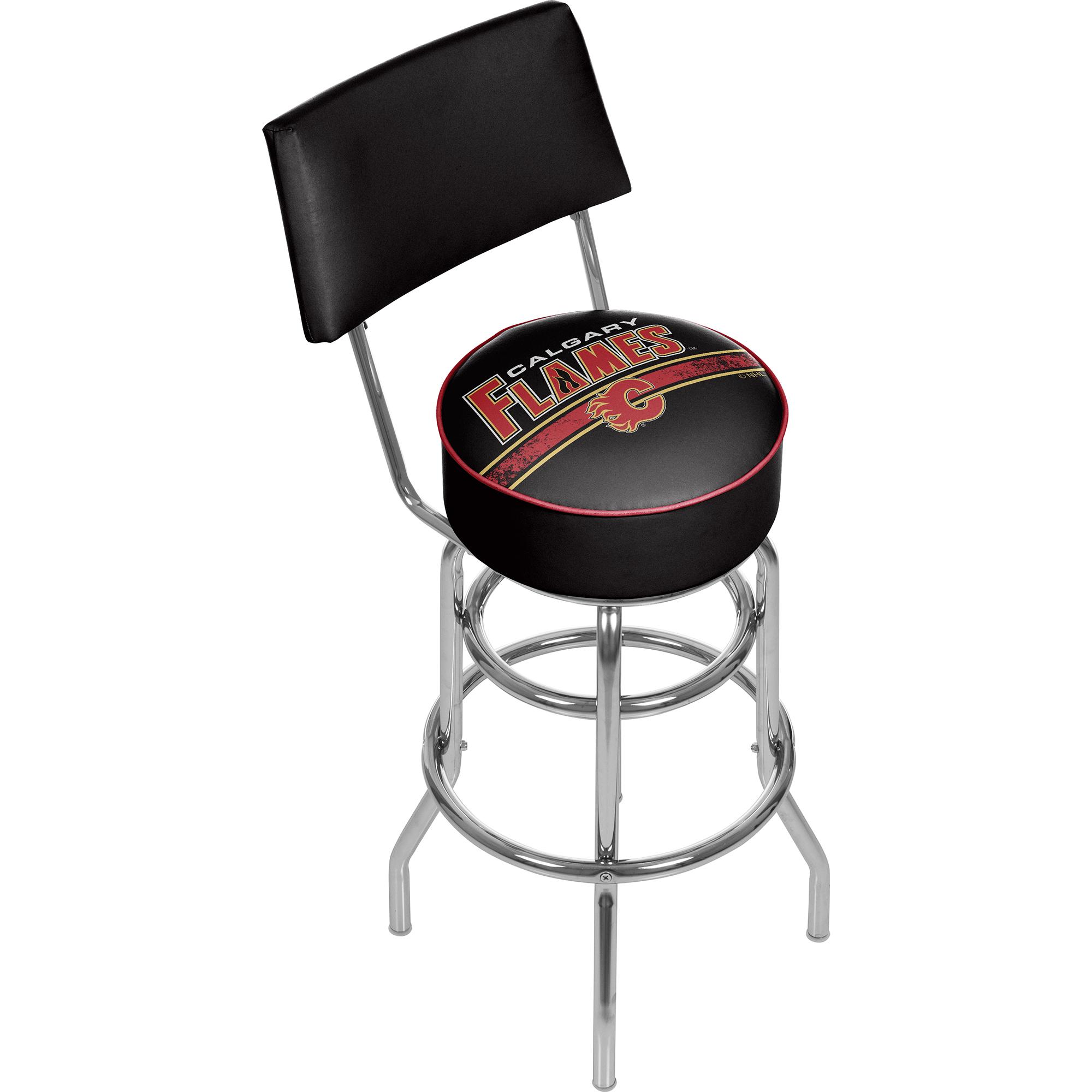 NHL Swivel Swivel Bar Stool with Back - Calgary Flames 589b8bebc98fc43a026d1106