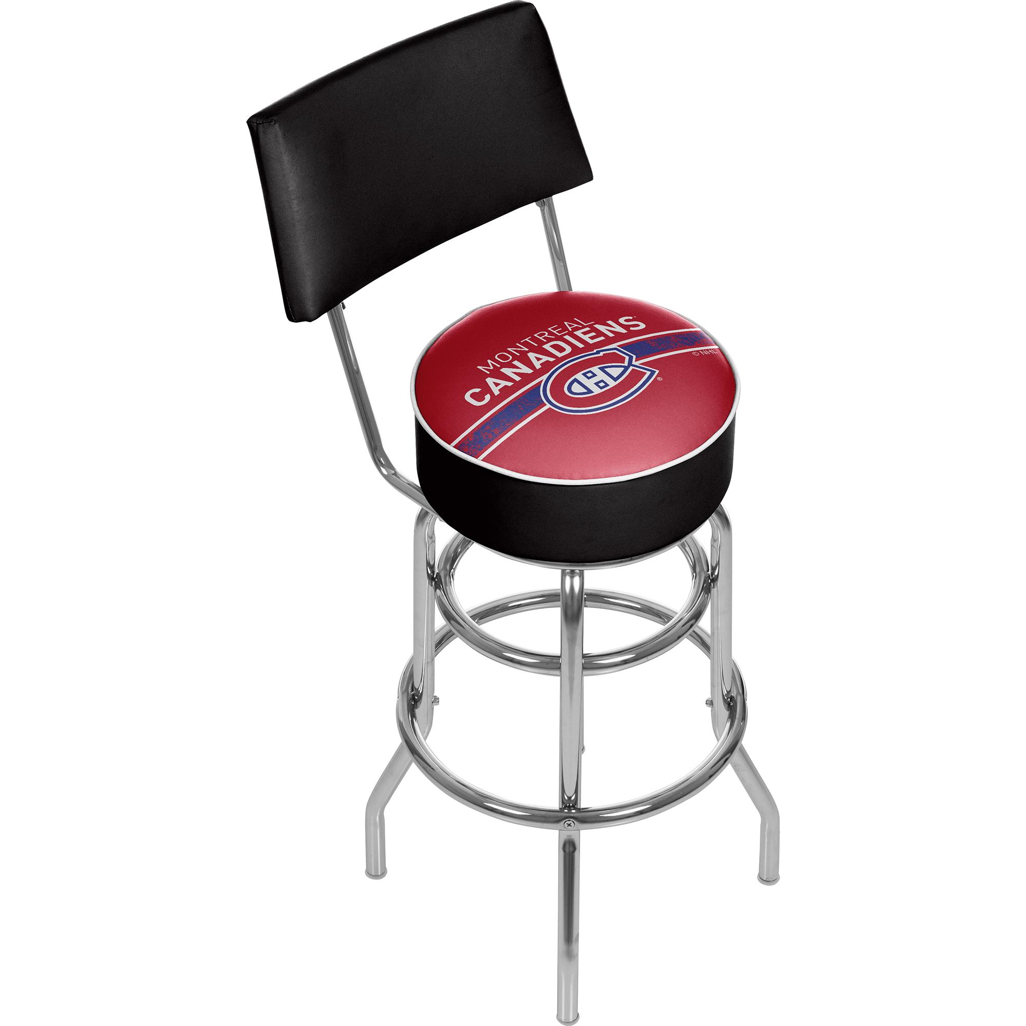 NHL Swivel Swivel Bar Stool with Back - Montreal Canadiens 589b8bebc98fc43a026d1110