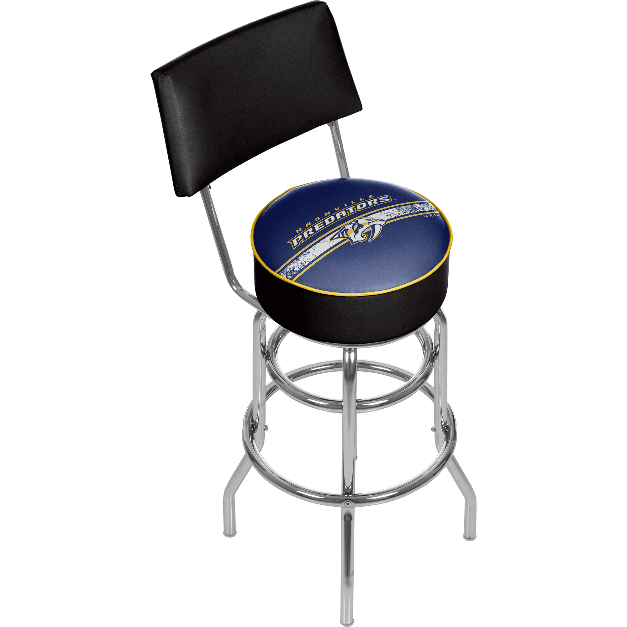 NHL Swivel Swivel Bar Stool with Back - Nashville Predators 589b8bebc98fc43a00165f47