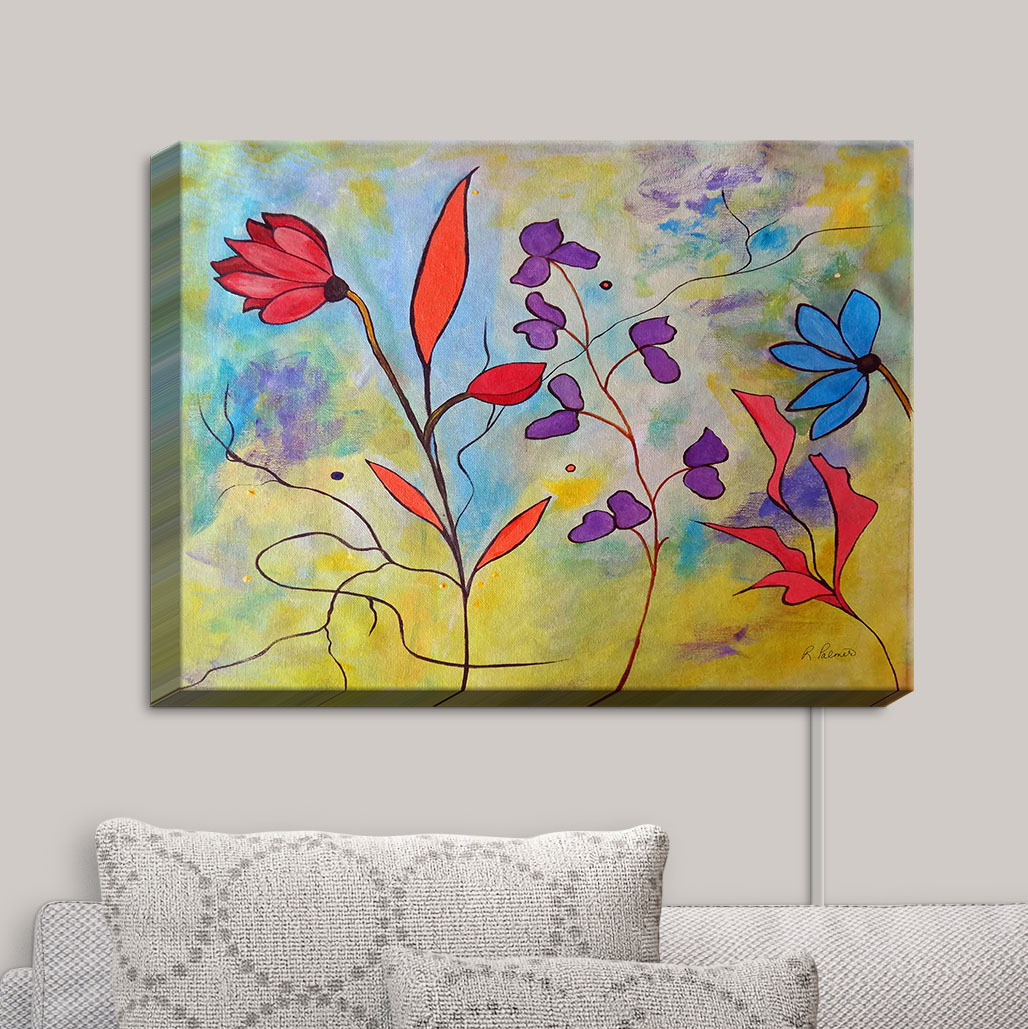 Canvas_Wall_Art_by_DiaNoche_Designs_Pink_Flora_II__Ruth_Palmer